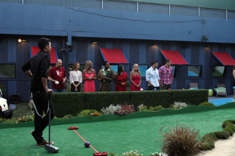 "HouseGuests During HoH Competition ""Big Brother Open"""