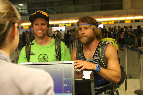 Andy and Tommy at the Airport