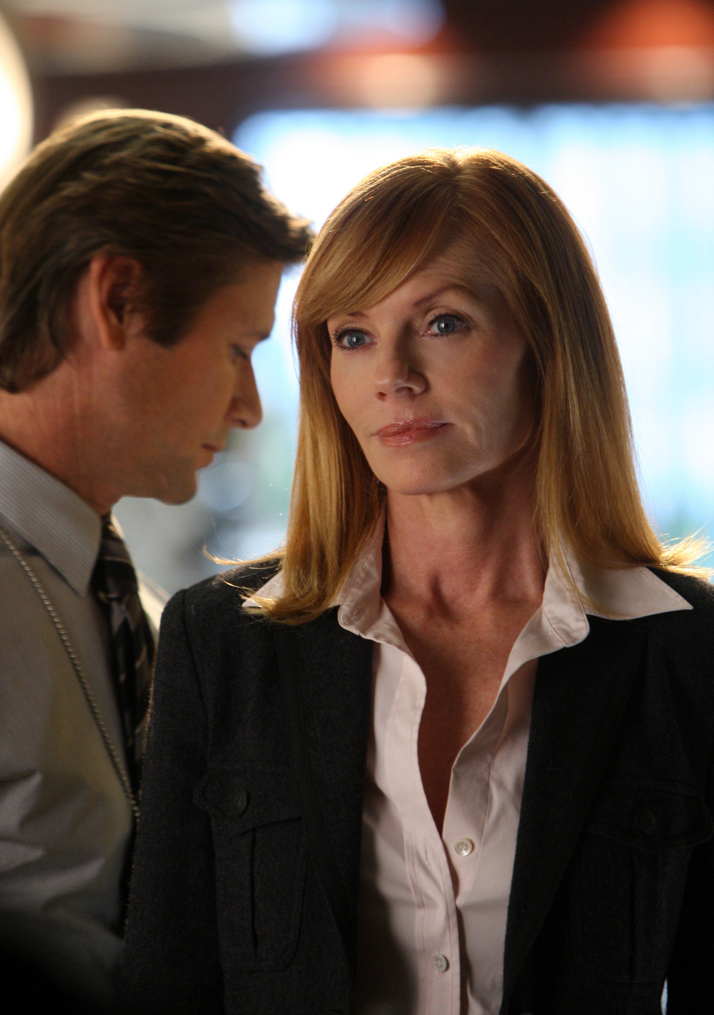 Agent Viggo McQuid and Catherine Willows