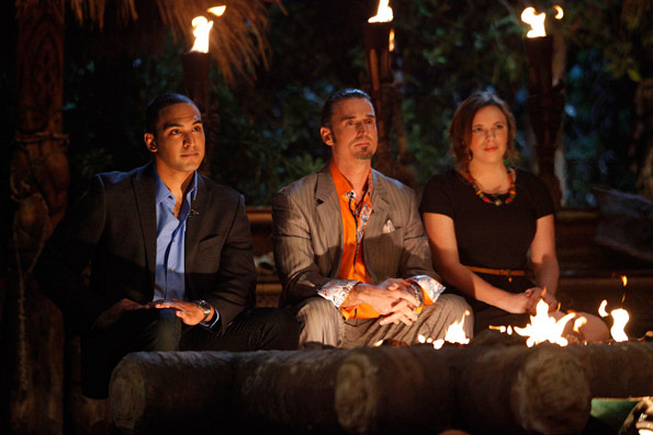 The Final Three at the Survivor: South Pacific Reunion