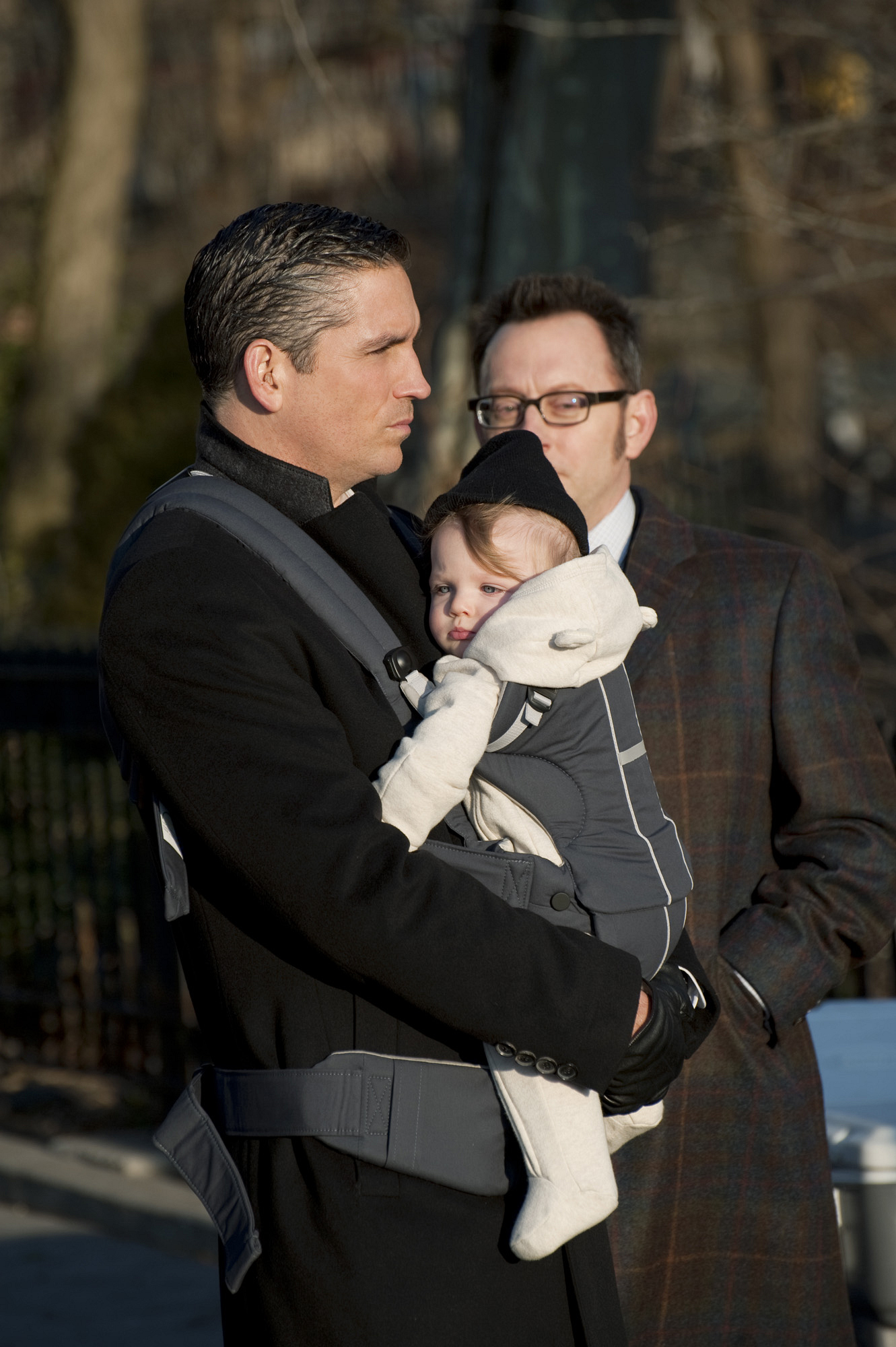 Reese and Finch with the baby