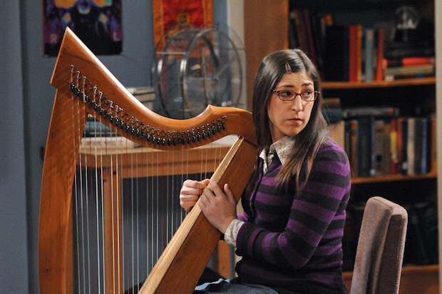 Amy playing her harp