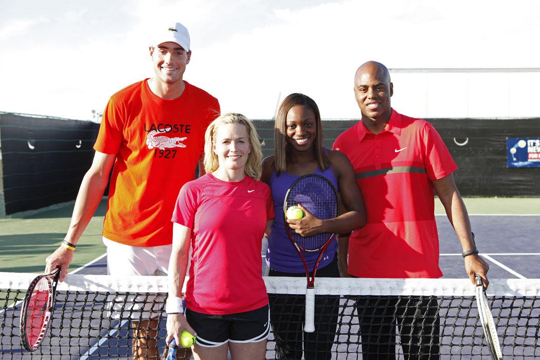 Elisabeth Shue at USTA tennis event