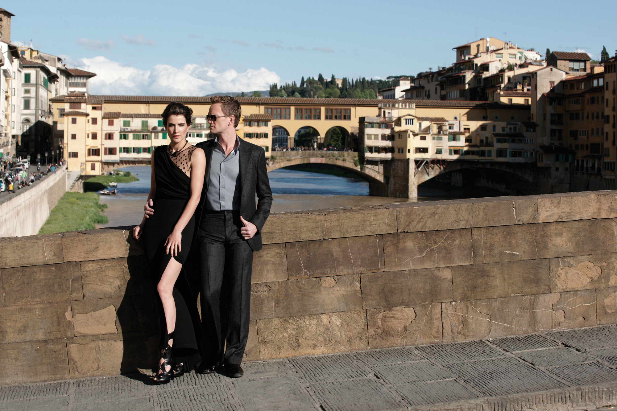 Neil Patrick Harris and Cobie Smulders in Florence
