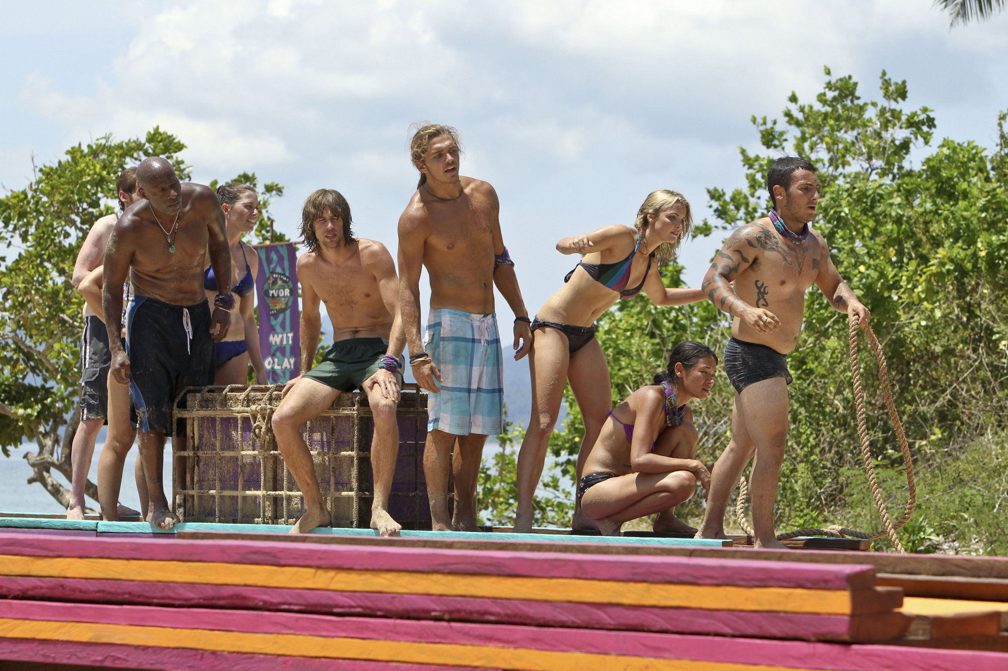 "Immunity Challenge competition on ""There's Gonna Be Hell to Pay"" Season 26 Episode 3"
