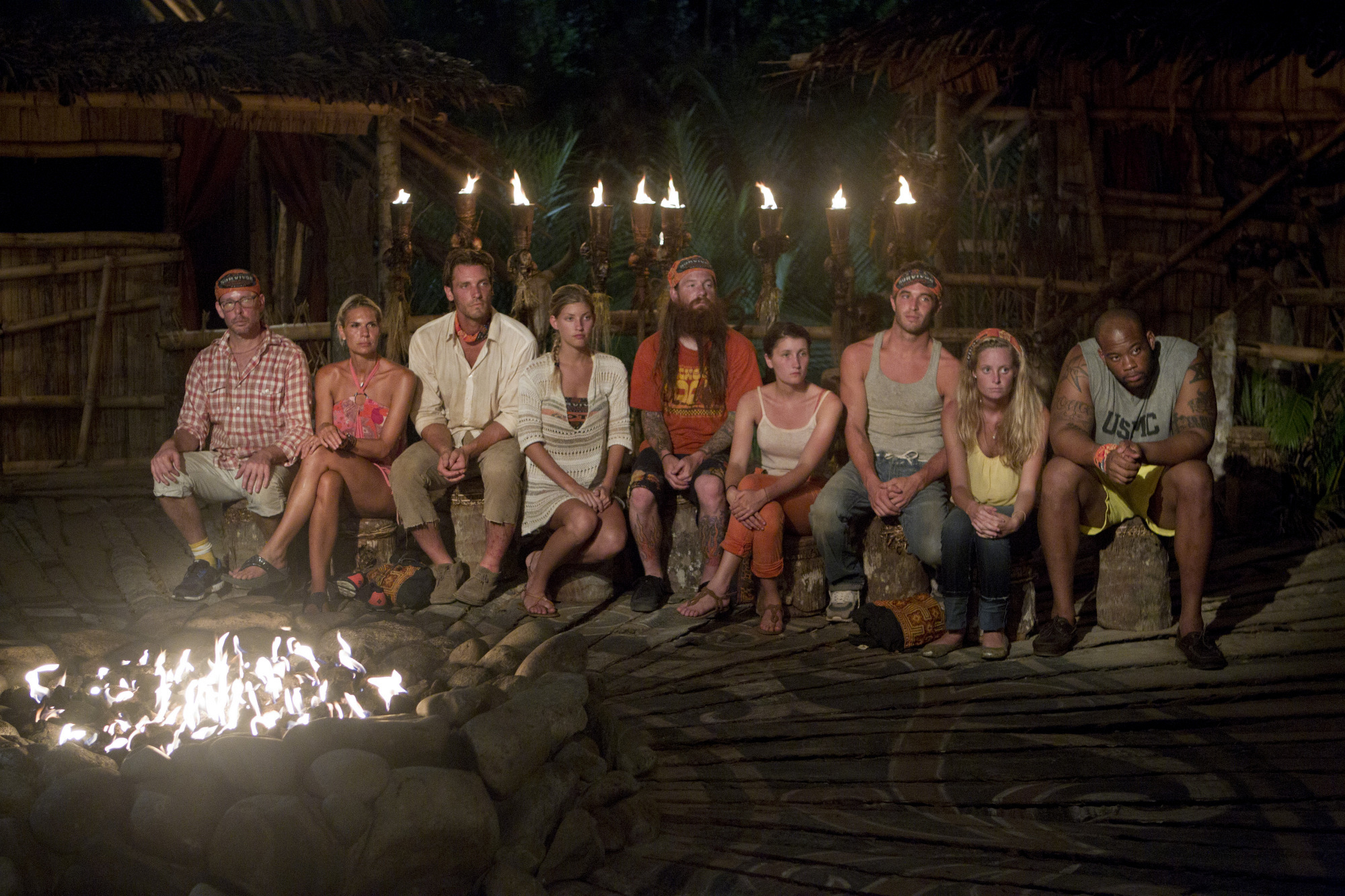 "The Gota tribe goes to Tribal Council on ""There's Gonna Be Hell to Pay"" Season 26 Episode 3"