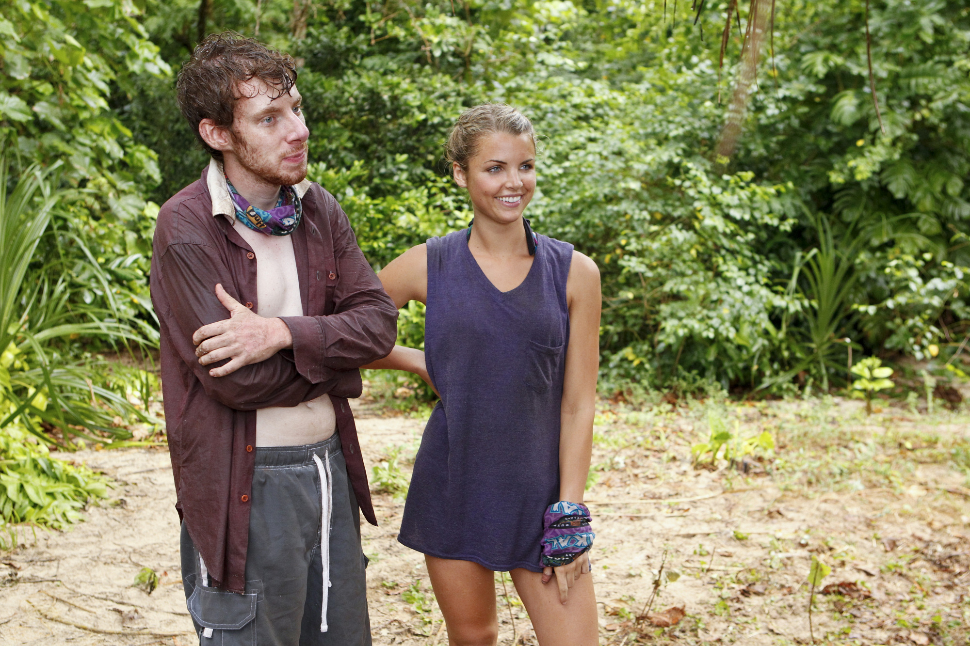"Cochran and Andrea at camp in ""Kill or Be Killed"" Episode 4 of Season 26"