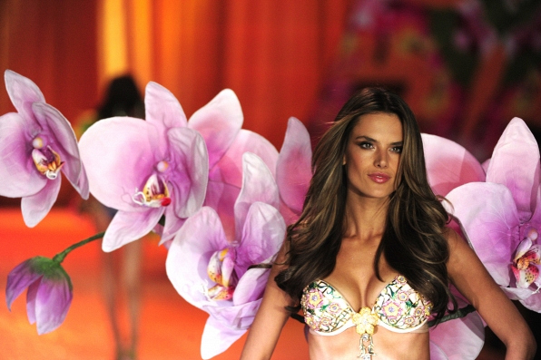 Alessandra Ambrosio models the Fantasy Bra - 2012 Highlights