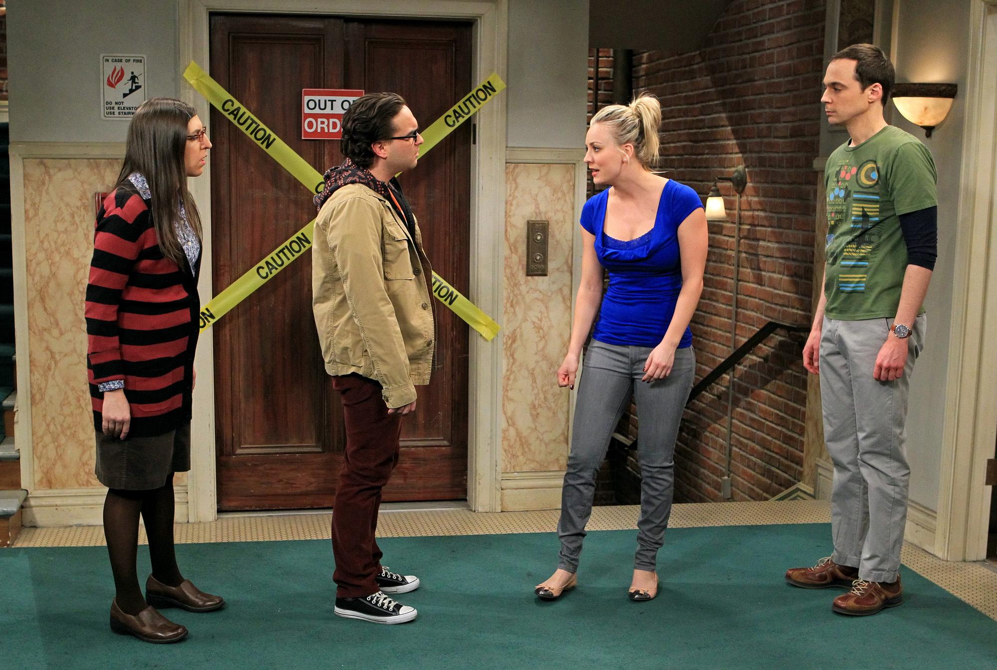 Amy, Leonard, Penny & Sheldon