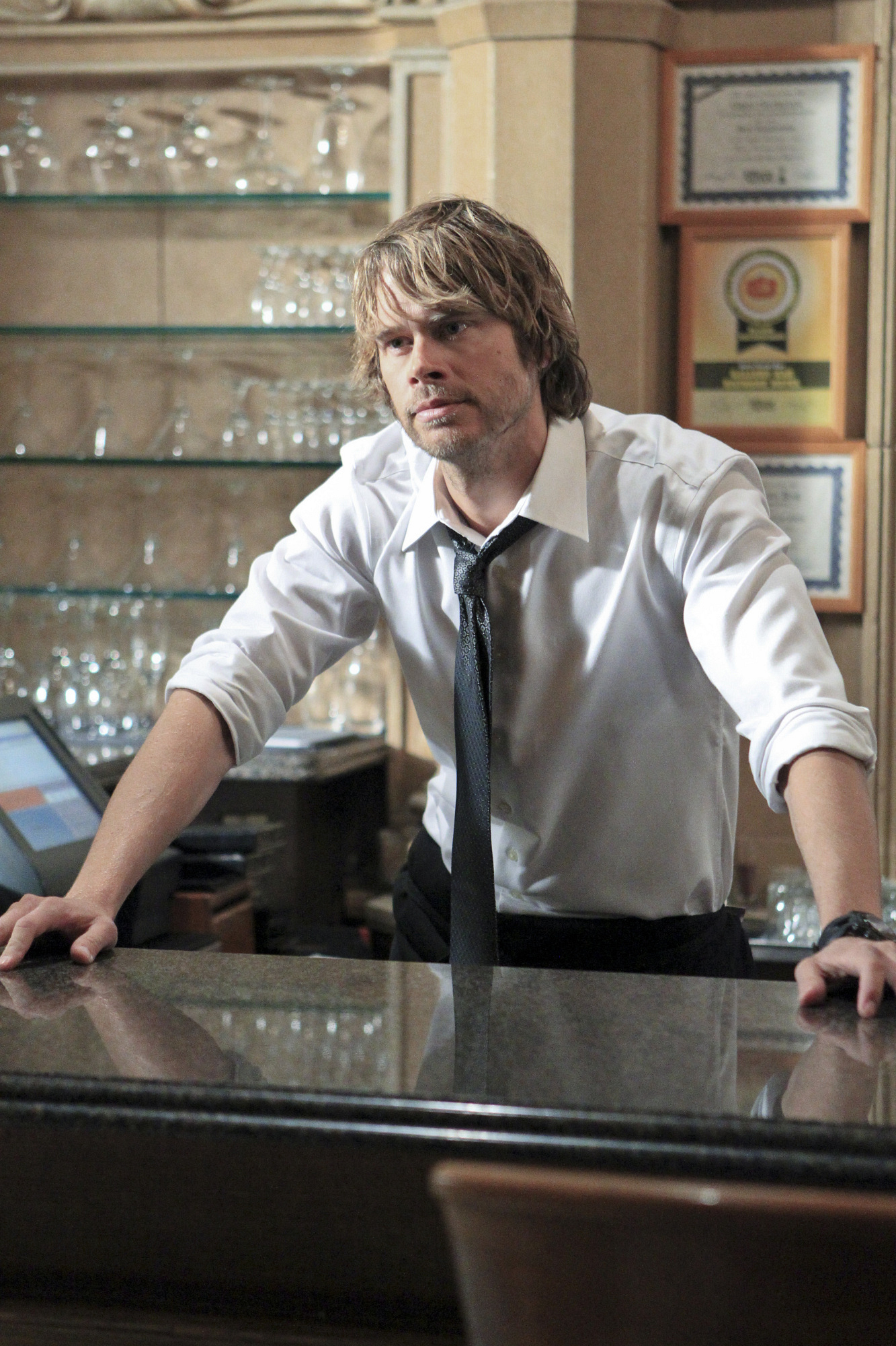 "Bar Tending in ""Wanted"", Episode 17 of Season 4"