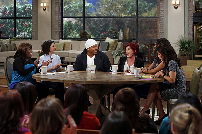 The ladies have a laugh with LL Cool J