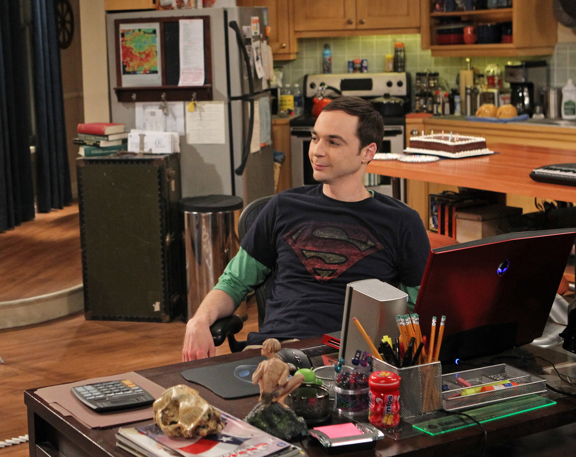 "Satisfied Sheldon in ""The Closure Alternative"", Episode 21 of Season 6"