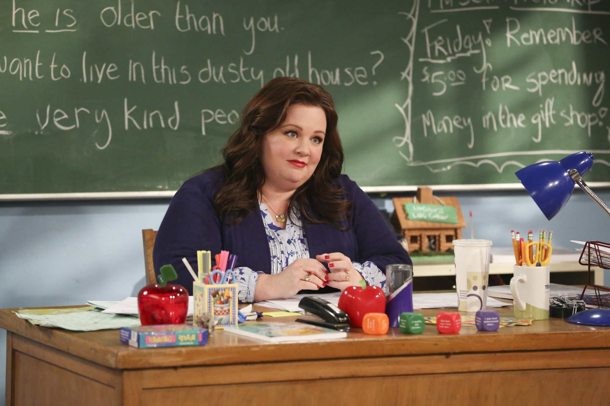 """Teacher Molly in """"Mike Can't Read"""" Episode 20 of Season 3"""