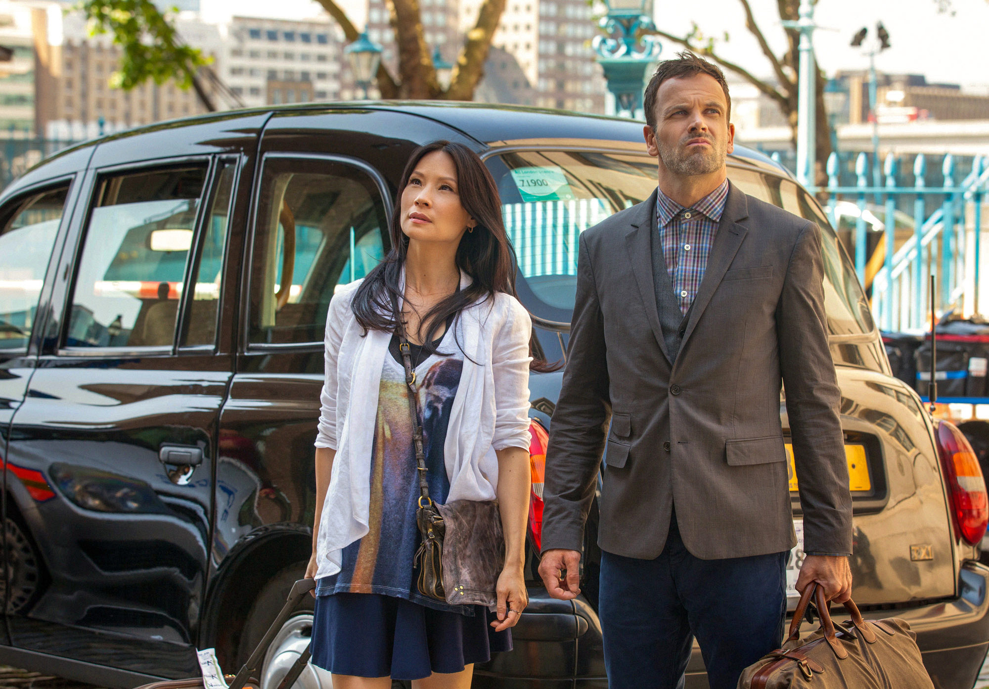 Jonny Lee Miller and Lucy Liu  begin filming season 2 in London