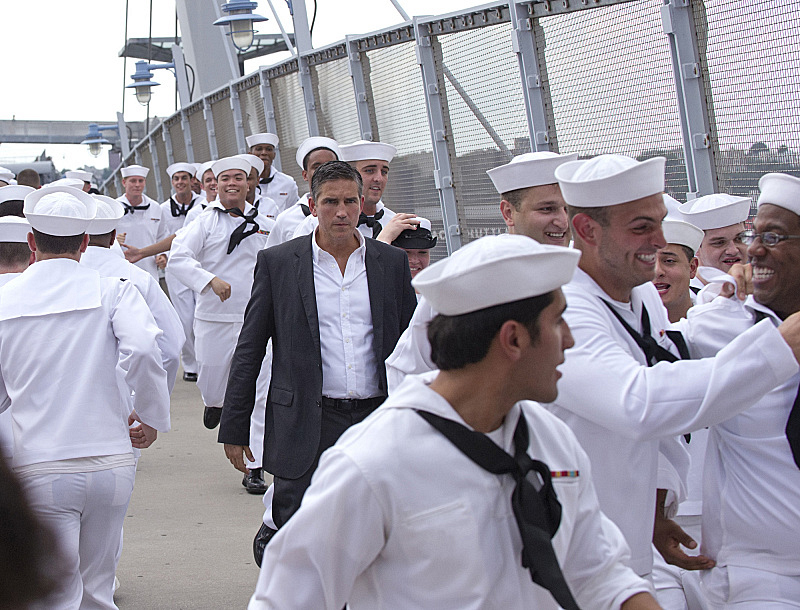 6. He stands out in a sea of sailors