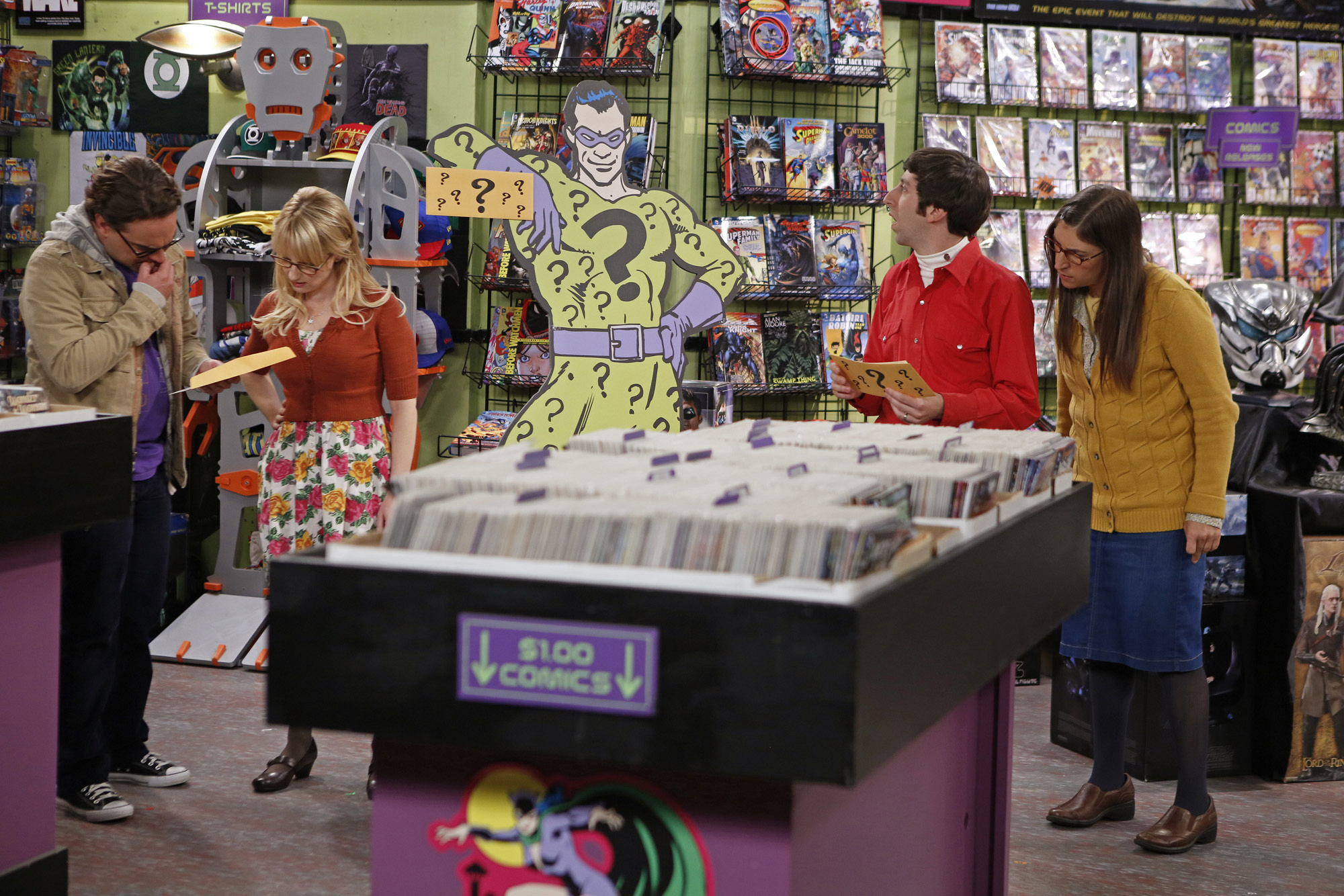 "A stop in the comic book shop in ""The Scavenger Vortex"" Episode 3 of Season 7"