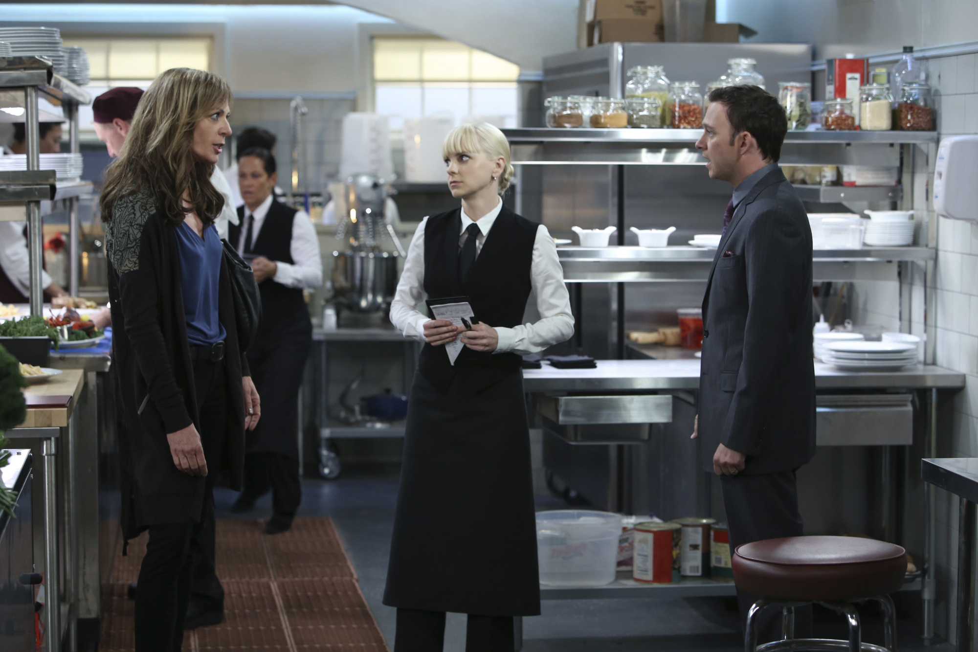 "Faceoff in the kitchen in ""Estrogen and a Hearty Breakfast"" Episode 7 of Season 1"