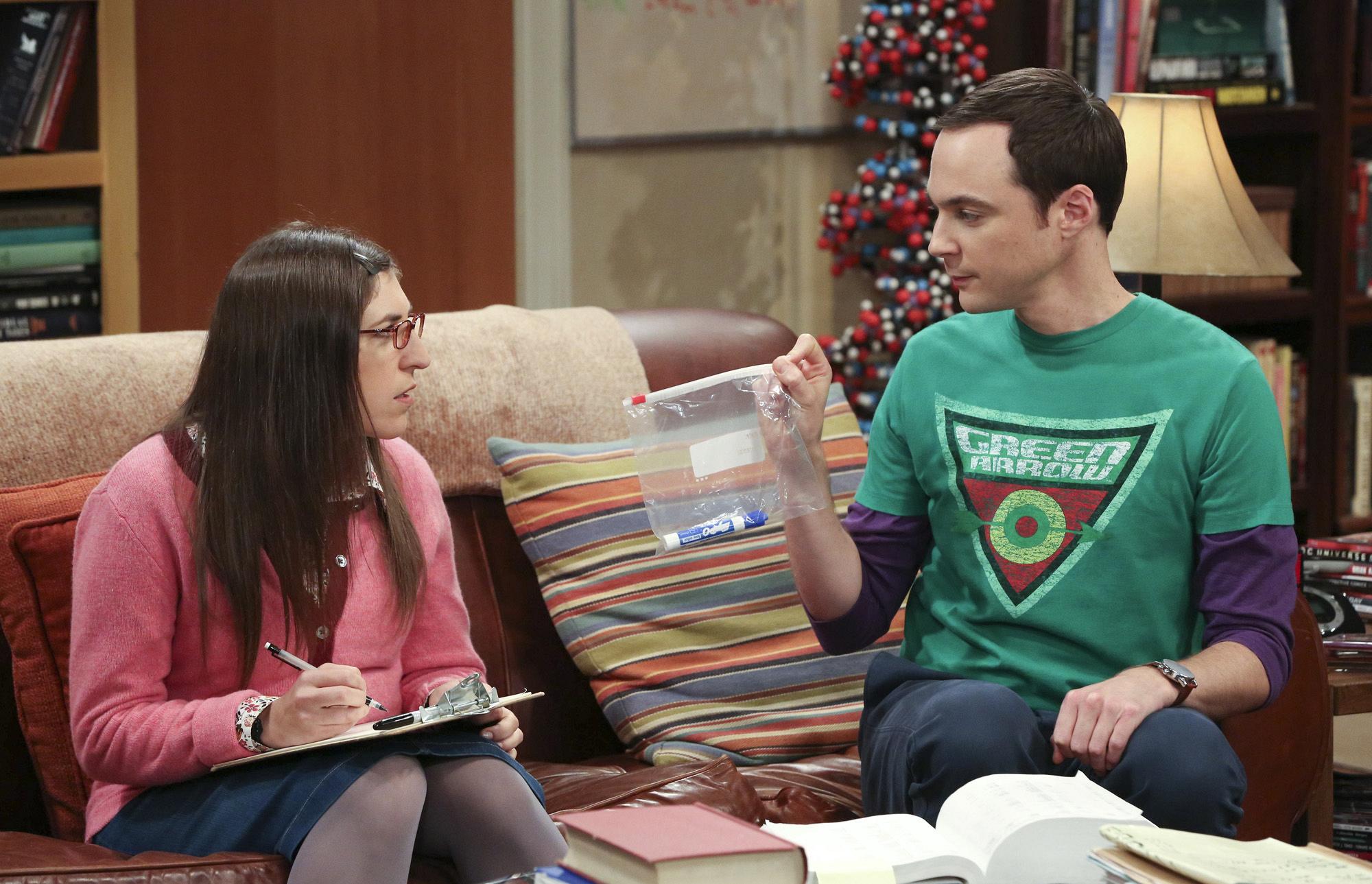 "Sheldon & Amy in ""The Romance Resonance"" Episode 6 of Season 7"