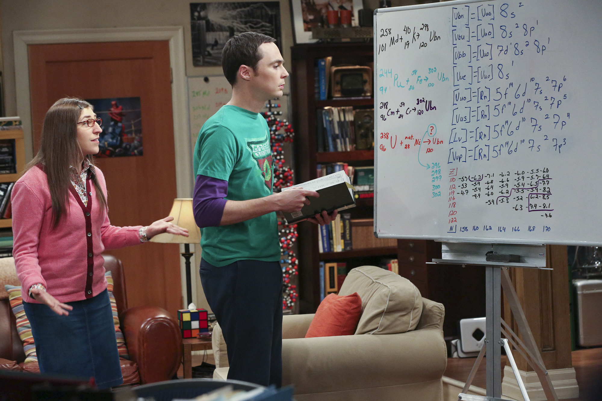 "Shamy & the smartboard in ""The Romance Resonance"" Episode 6 of Season 7"