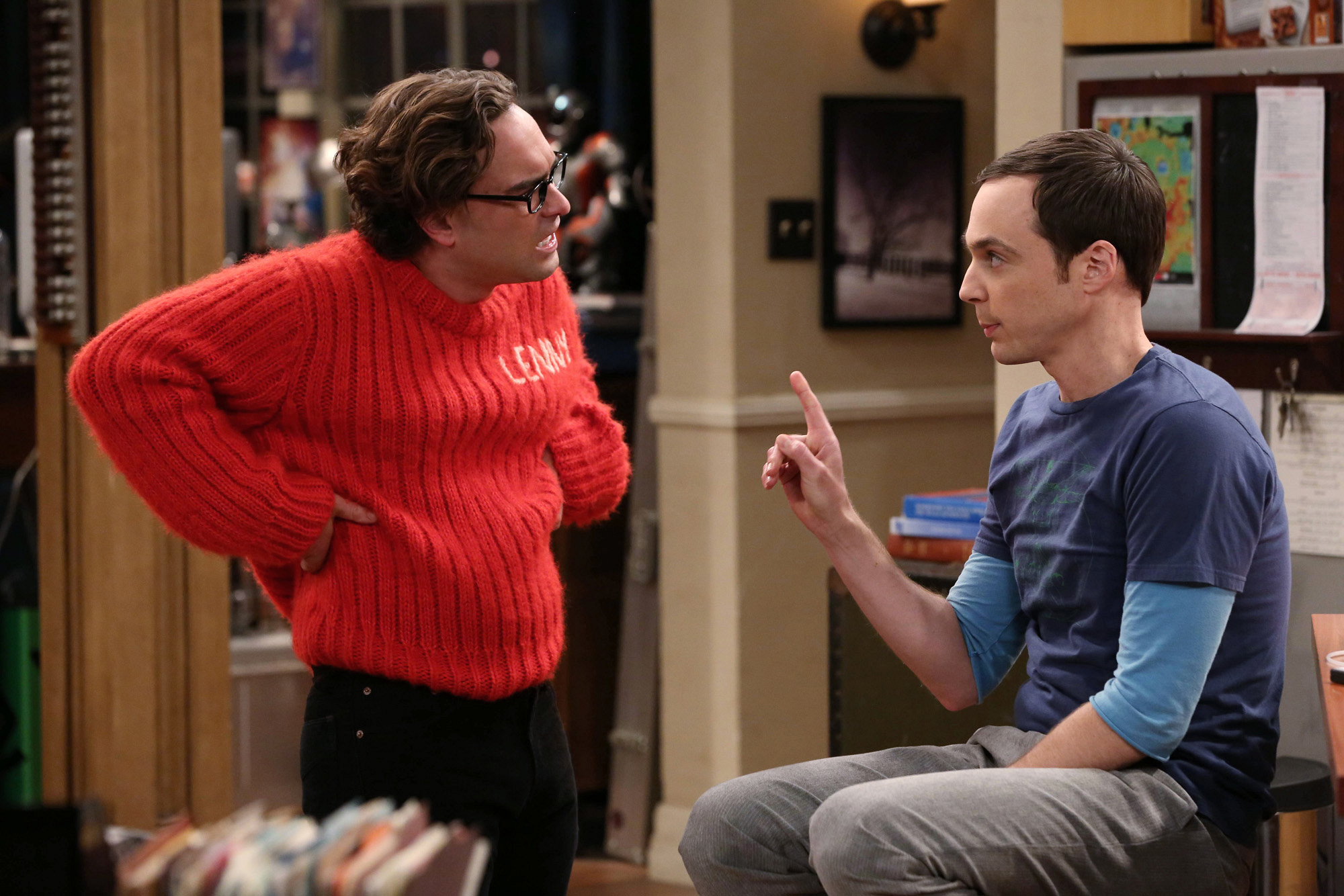 "Sheldon sets parameters in ""The Itchy Brain Simulation"" Episode 8 of Season 7"