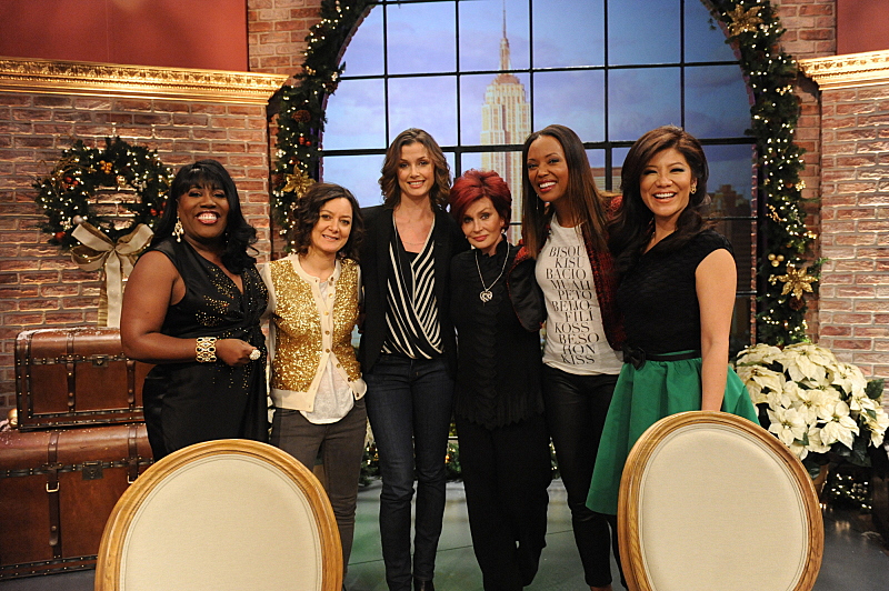 Bridget Moynahan with the ladies of THE TALK in New York