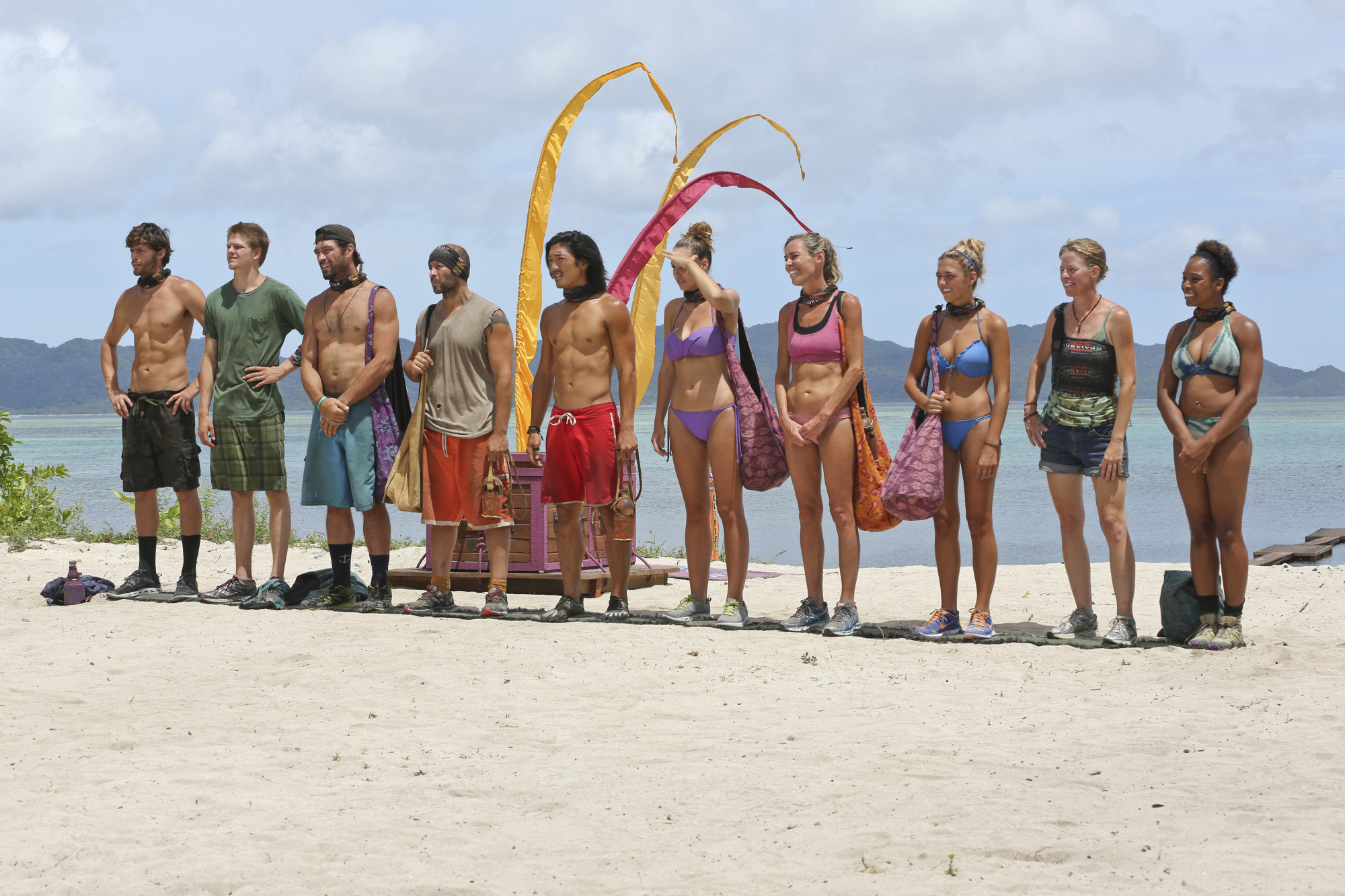 The merged tribe in Season 28 Episode 7