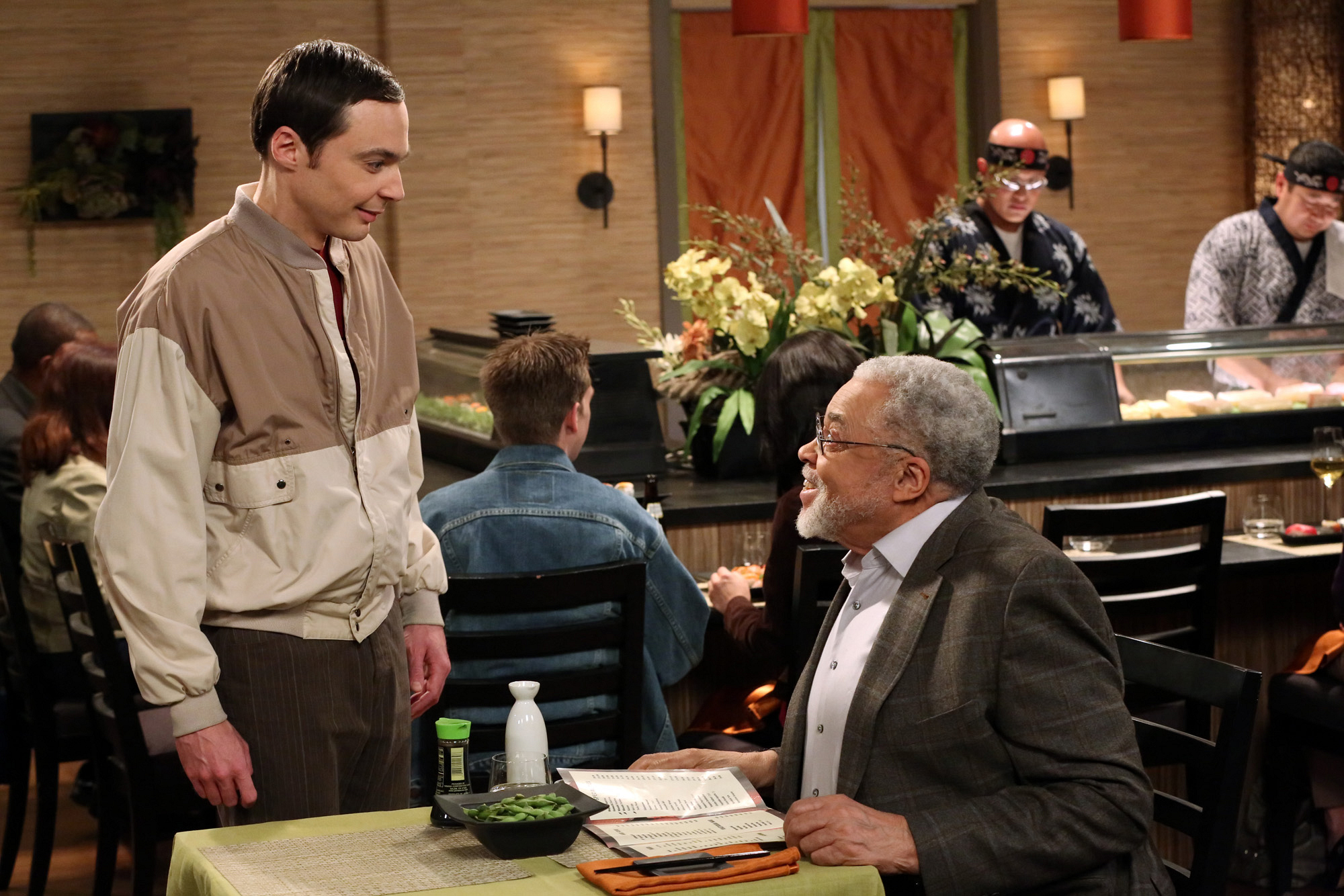 "Sheldon & James Earl Jones in ""The Convention Conundrum"" Episode 14 of Season 7"