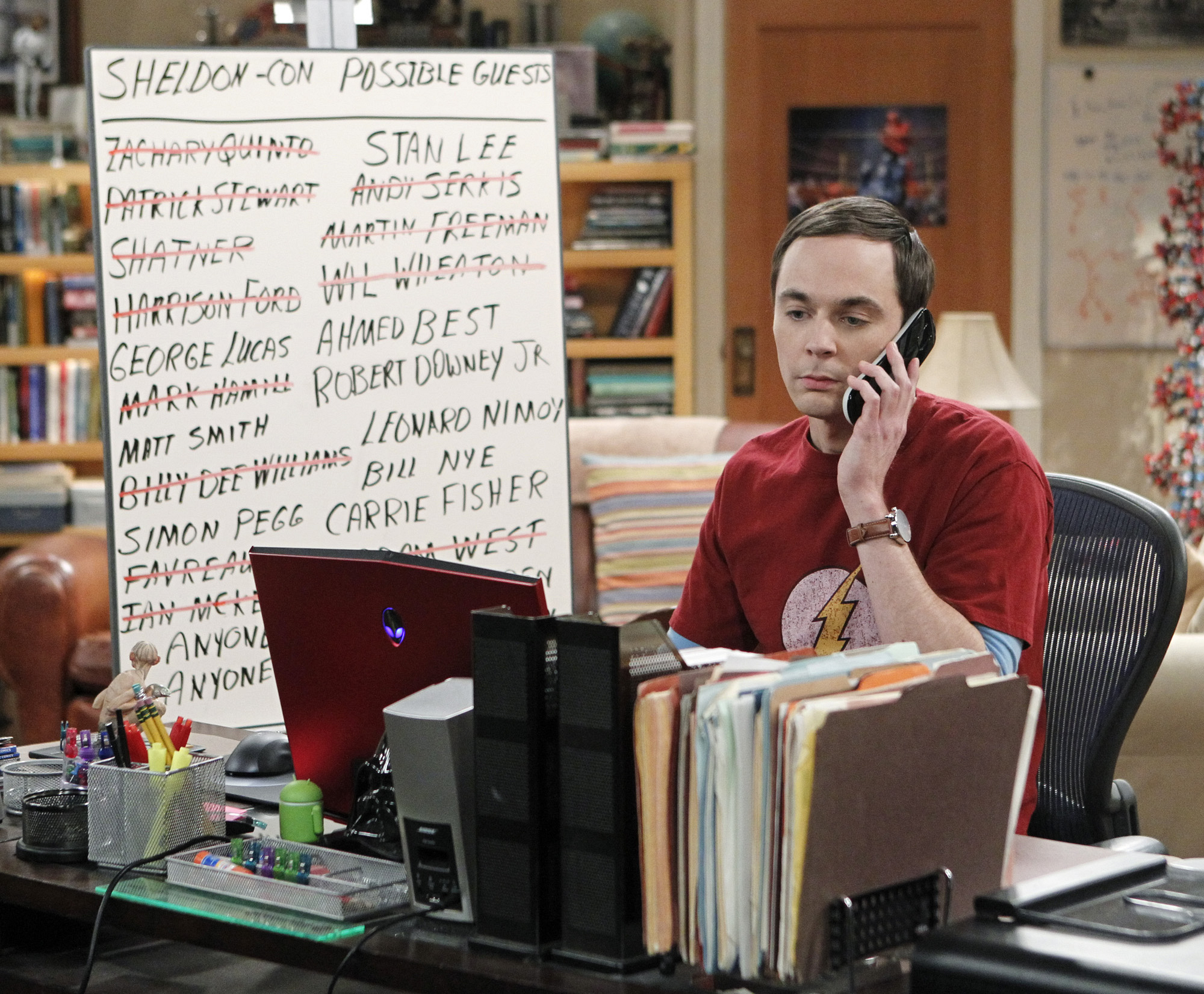 """Phone call in """"The Convention Conundrum"""" Episode 14 of Season 7"""