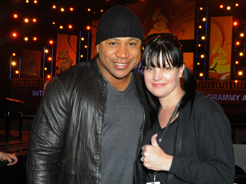 2014 GRAMMY Rehearsals - Pauley Perrette and NCIS:LA's LL Cool J