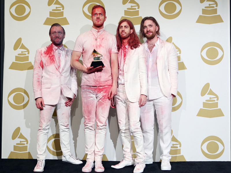 Imagine Dragons in the Press Room - GRAMMYs 2014 - CBS.com