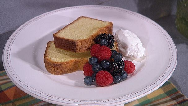 Alisa Reynolds' Cream Cheese Pound Cake With Brandy Whipped Cream