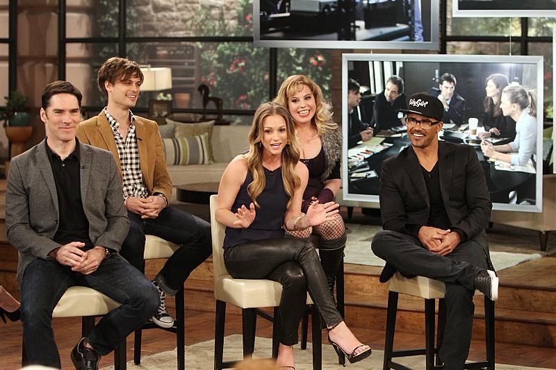 The cast of Criminal Minds visits THE TALK