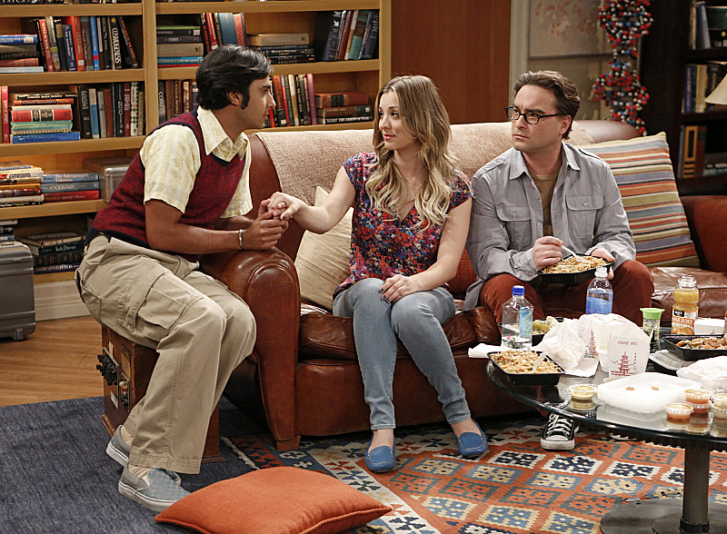 "Raj, Penny & Leonard in ""The Indecision Amalgamation"" S7 E19"
