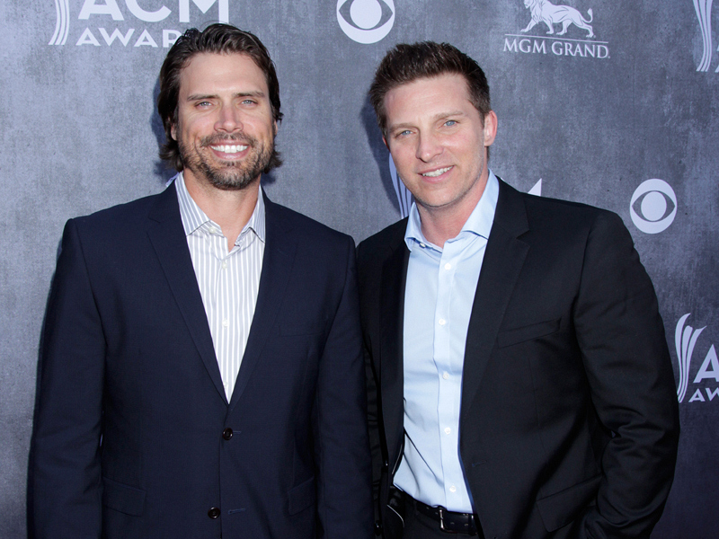 Steve Burton & Joshua Morrow on the Red Carpet - 49th ACM Awards