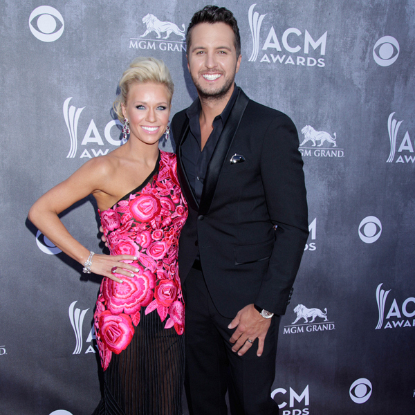 Luke Bryan and Caroline Boyer on the Red Carpet - 49th ACM Awards