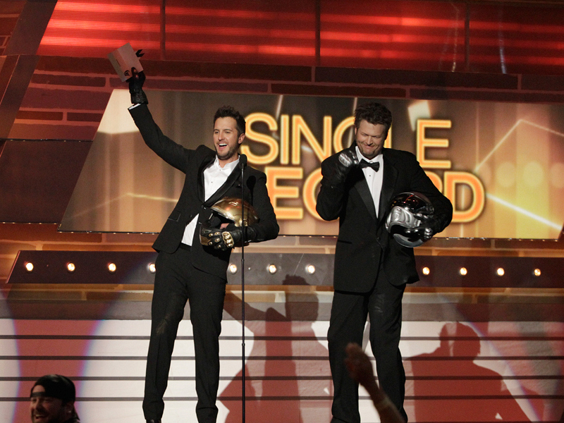 Hosts, Luke Bryan and Blake Shelton - 49th ACM Awards