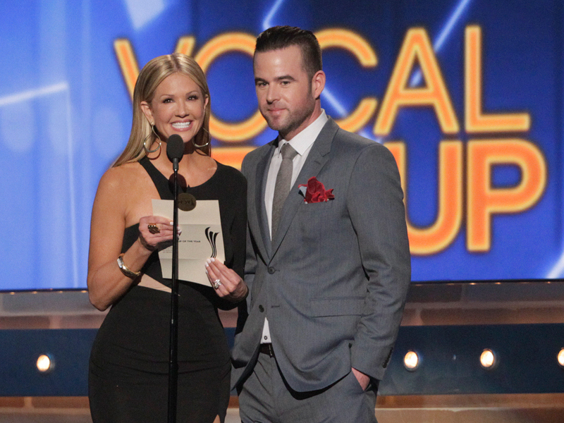 Nancy O'Dell and David Nail - 49th ACM Awards