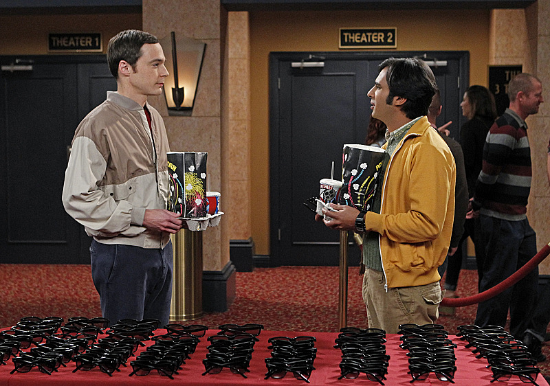 "Sheldon & Raj in ""The Gorilla Dissolution"" S7 E23"