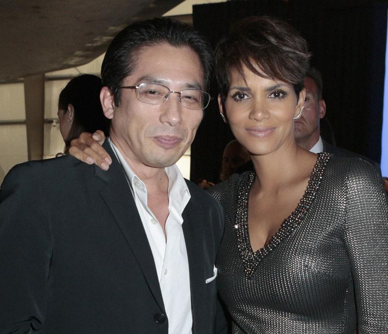 Hiroyuki Sanada and Halle Berry - Extant Premiere Red Carpet