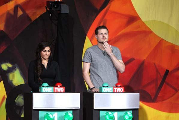 Victoria and Derrick compete