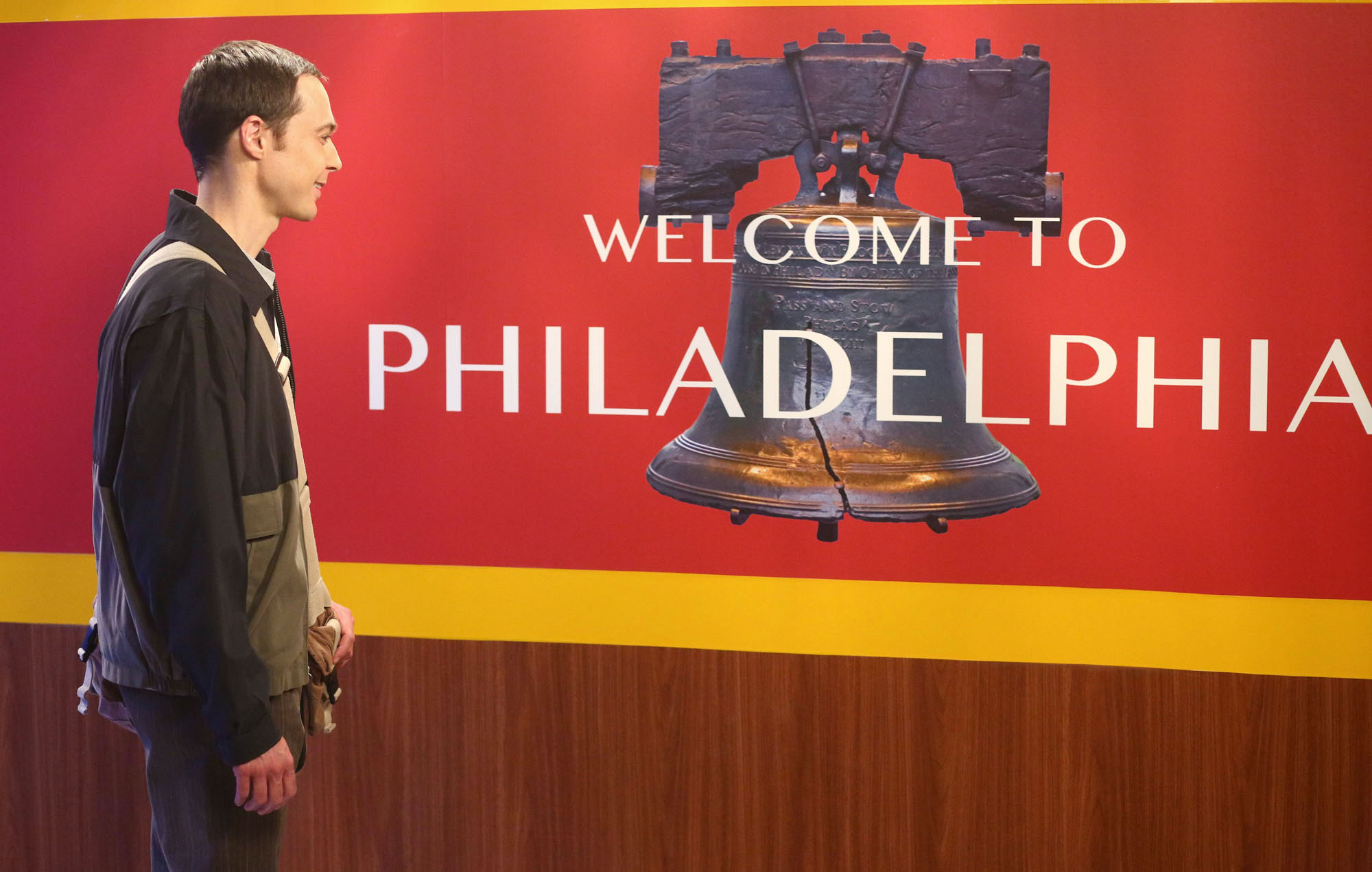 Sheldon visits the Philadelphia train station