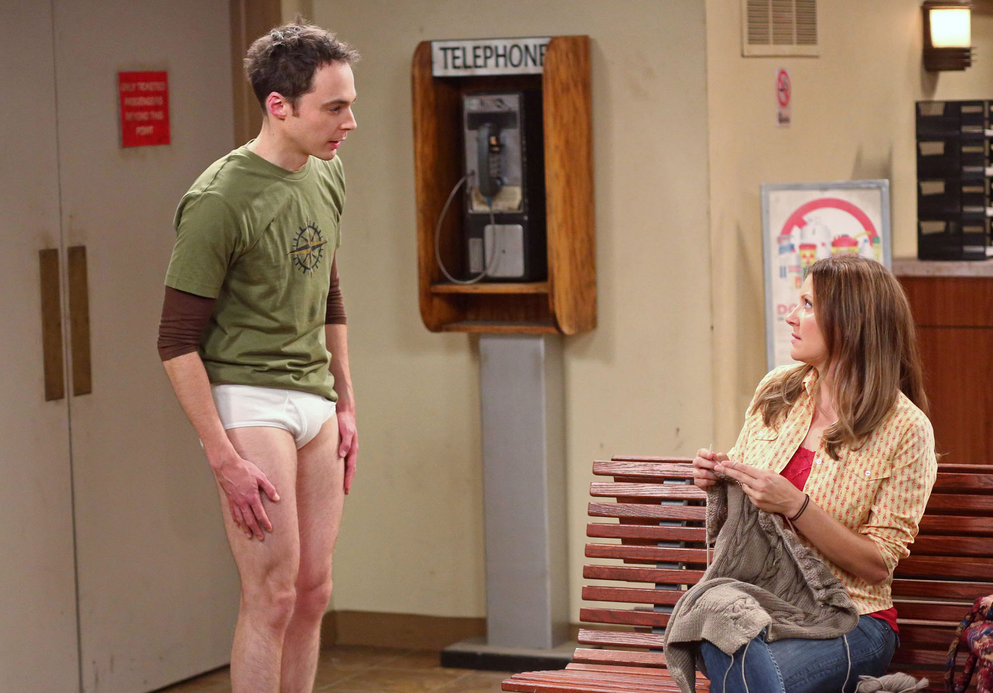 Sheldon in his underwear