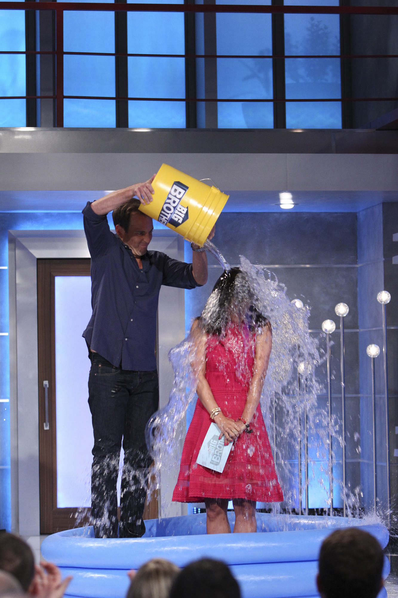 Julie accepts the ALS Ice Bucket Challenge