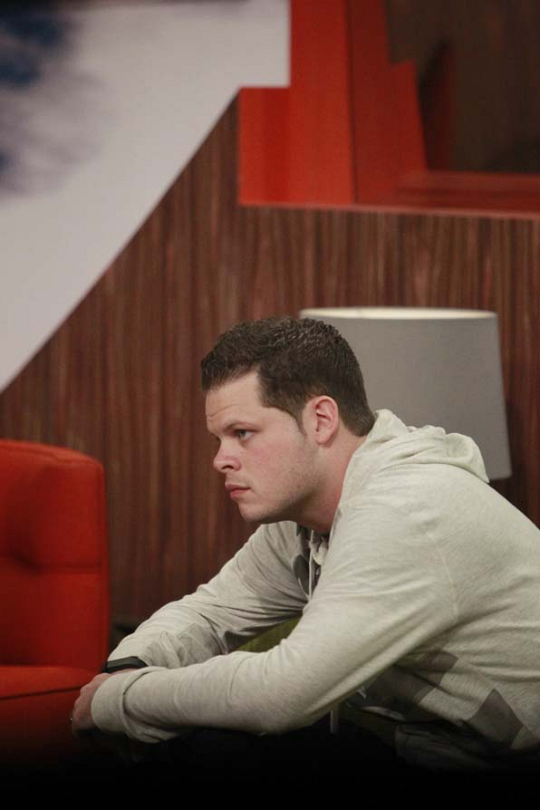 Derrick during the Double Eviction