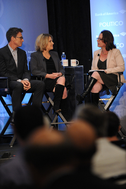 Tim Daly, Barbara Hall, and Maggie Haberman