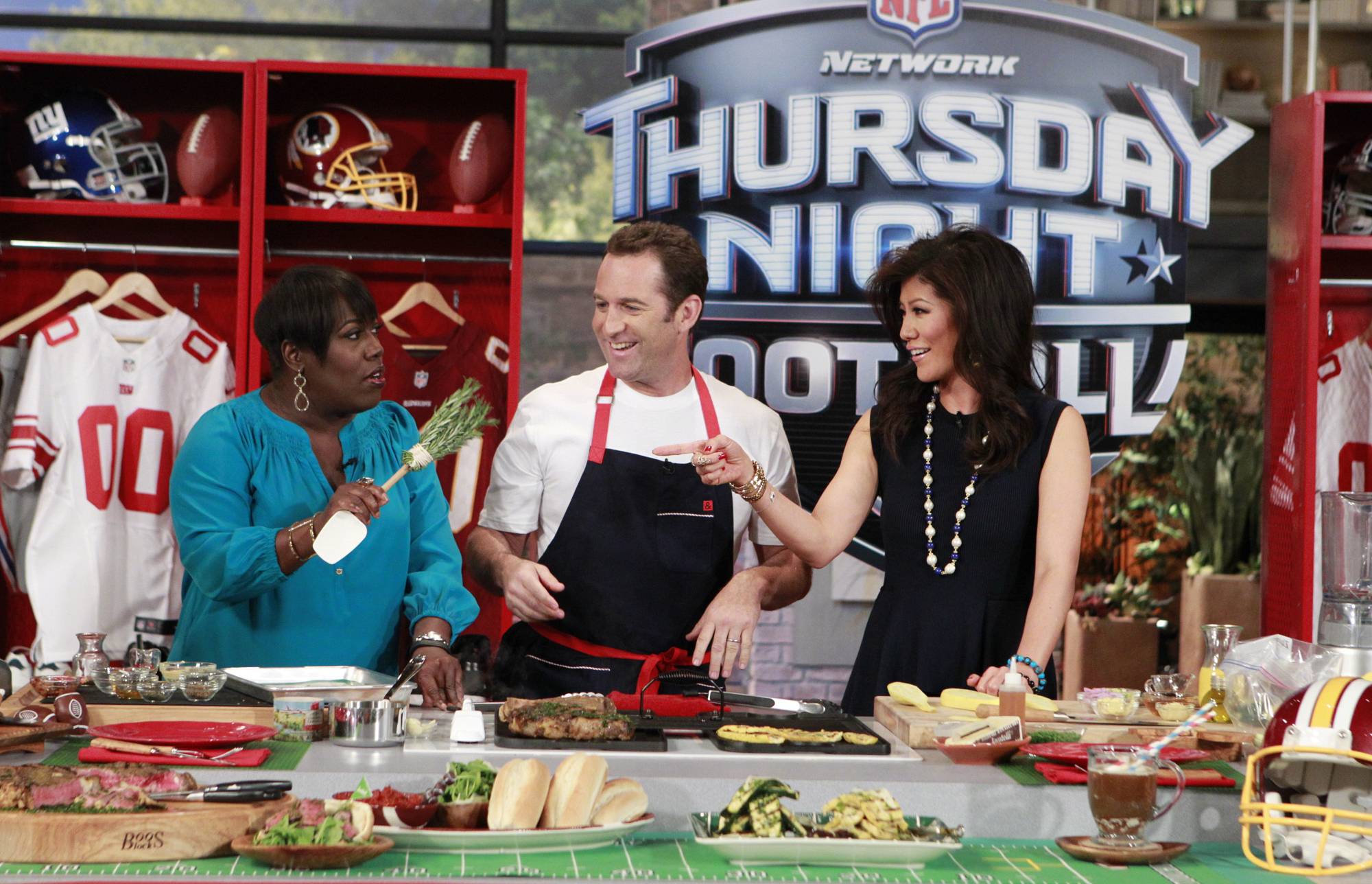 9. Julie and Sheryl cooking with Adam Perry Lang.