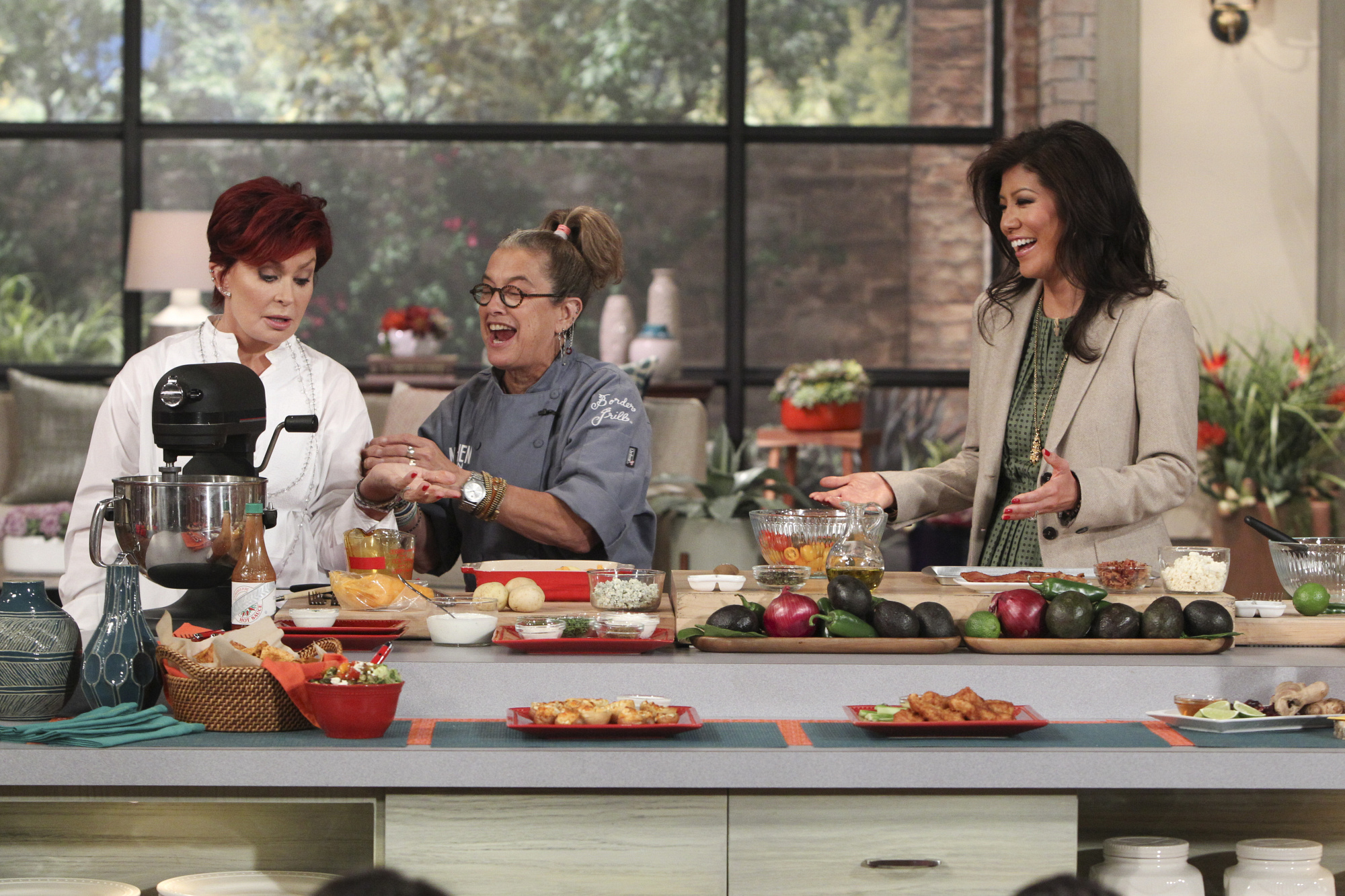 3. Sharon and Julie cooking with Susan Feniger.