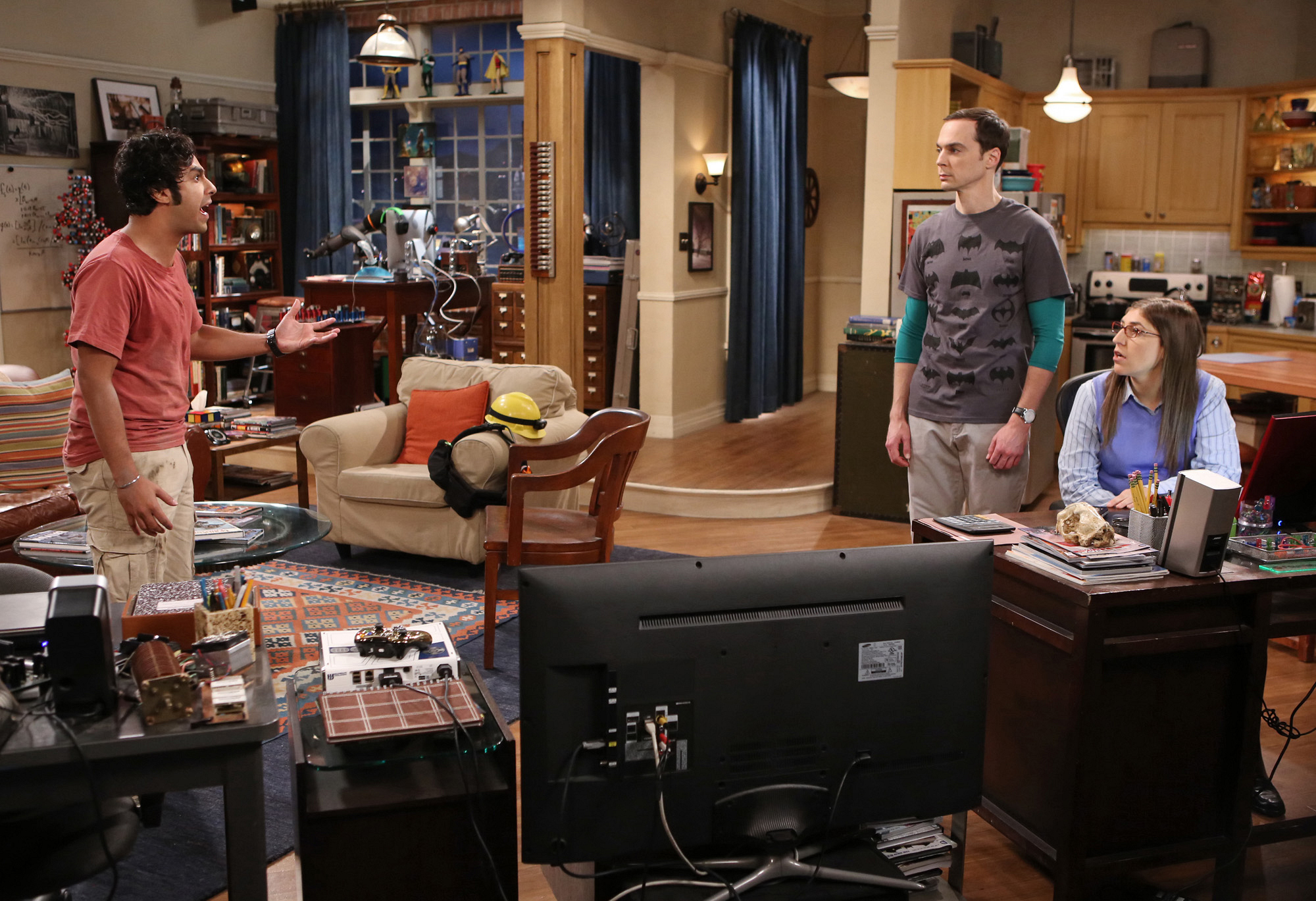 Raj, Sheldon and Amy