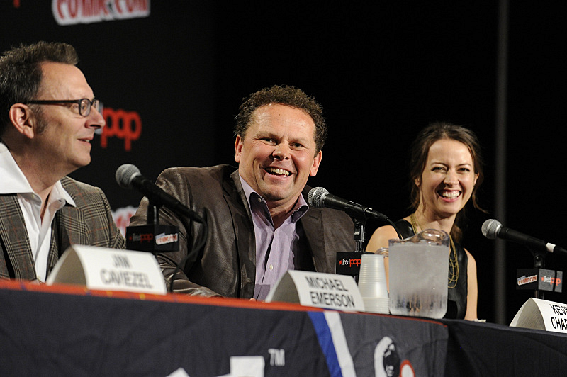 Michael Emerson , Kevin Chapman, and Amy Acker are all smiles at NYCC