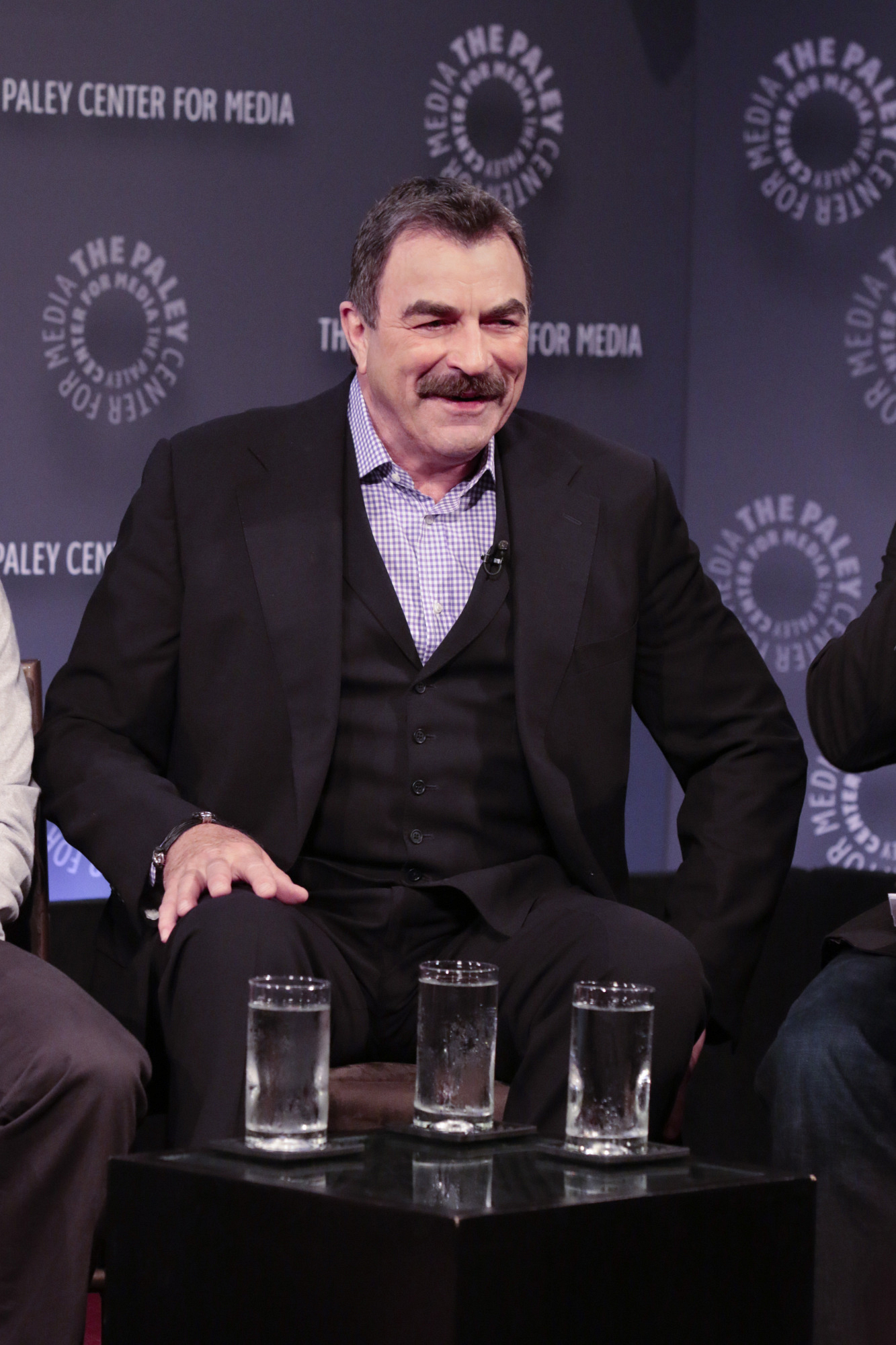 11. Tom Selleck might be drinking three waters.
